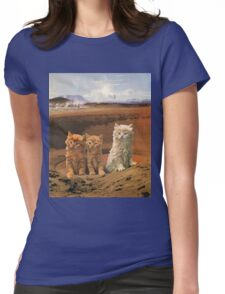 Three kittens adventure Womens Fitted T-Shirt