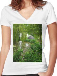 Westonbury Mill Water Garden Women's Fitted V-Neck T-Shirt
