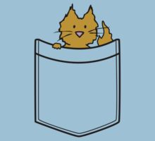 Ginger Cat in Your Pocket Kids Tee