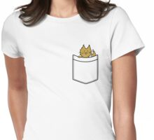 Ginger Cat in Your Pocket Womens Fitted T-Shirt