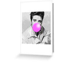 Elvis Bubblegum Greeting Card