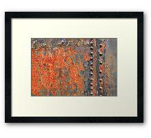 Flaming Iron Framed Print