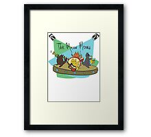 The Meow Meows - colourised version Framed Print