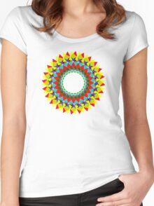 mandala . clarity Women's Fitted Scoop T-Shirt