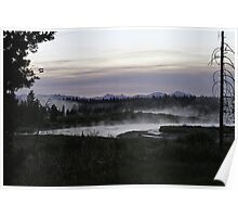 Madison River Morning at Baker's Hole Poster
