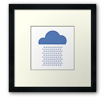 We love weather! rain, clouds, water, raindrop, spring, summer, autumn Framed Print