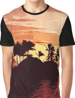 Fijian Sunset Graphic T-Shirt