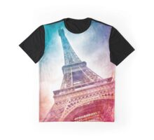 Modern-Art EIFFEL TOWER Graphic T-Shirt