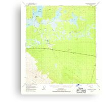 USGS TOPO Map Alaska AK Tanacross B-5 359729 1948 63360 Canvas Print
