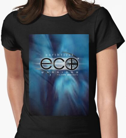 eco warriors 3 Womens Fitted T-Shirt