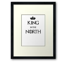 King in the North Crown Framed Print