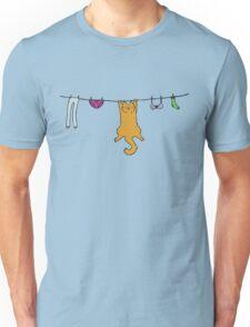 Wet Washing Cat Unisex T-Shirt