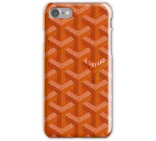 Goyard Perfect Case orange iPhone Case/Skin