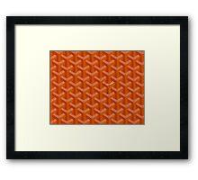 Goyard Perfect Case orange Framed Print
