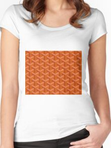 Goyard Perfect Case orange Women's Fitted Scoop T-Shirt