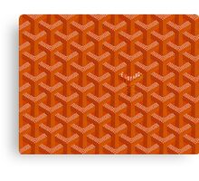 Goyard Perfect Case orange Canvas Print