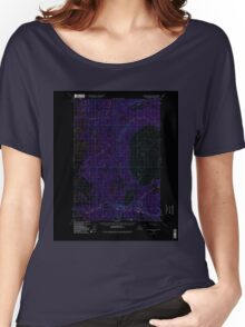 USGS TOPO Map Alaska AK Anchorage D-8 354068 1949 63360 Inverted Women's Relaxed Fit T-Shirt