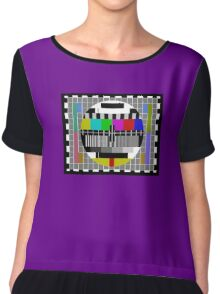 TV Test Pattern T-shirt Chiffon Top