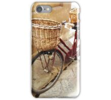 Watercolor painting of a vintage bicycle iPhone Case/Skin