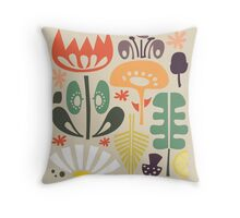 Scandinavian Wildflowers Throw Pillow