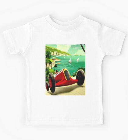 """MONACO GRAND PRIX"" Auto Racing Print Kids Tee"