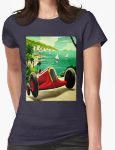 """MONACO GRAND PRIX"" Auto Racing Print Womens Fitted T-Shirt"