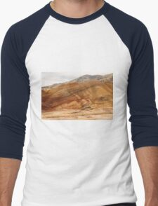 The Painted Hills Of Oregon - 2 ©  Men's Baseball ¾ T-Shirt