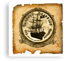 The Cabbity Shipping Co - Treasure Map Canvas Print