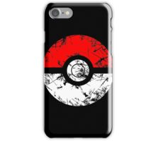 Pokeball - Grunge iPhone Case/Skin