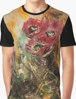 Pink Cactus Flowers Desert Summer Art Graphic T-Shirt