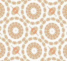 Citrine Mandala Tile by AllyNCoxon