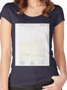 USGS TOPO Map Alaska AK Anchorage C-7 NW 353629 1979 25000 Women's Fitted Scoop T-Shirt