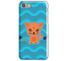 Little kitten with weather ;-) , cat, kitty, pussy iPhone Case/Skin