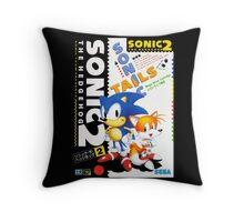 Blue Hedgehog 2 Throw Pillow