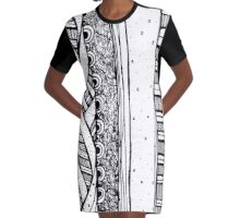 Cathartic Patterns Vol. 01 Graphic T-Shirt Dress