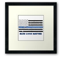 The Blue Lives Matter Awesome American Flag Framed Print