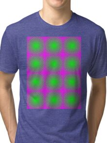 """PSYCHEDELIC 3D"" Whimsical Abstract Print Tri-blend T-Shirt"