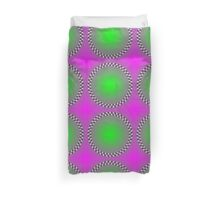 """""""PSYCHEDELIC 3D"""" Whimsical Abstract Print Duvet Cover"""