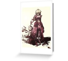 Dark Peach Greeting Card