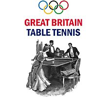 Great Britain Olympic Table Tennis Photographic Print