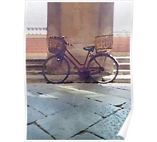 Watercolor painting of a vintage bicycle Poster