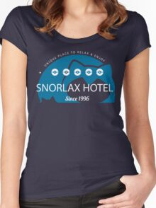 Snorlax hotel. Pokemon Women's Fitted Scoop T-Shirt