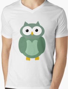 Transparent green owl  Mens V-Neck T-Shirt