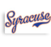 Syracuse Script Blue  Canvas Print