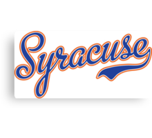 Syracuse Script Blue  Canvas Print
