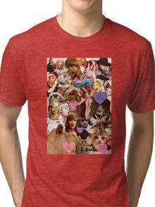 cat collage taylor swift Tri-blend T-Shirt
