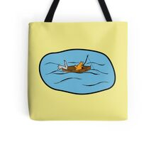 Fishing Boat - colourised version Tote Bag