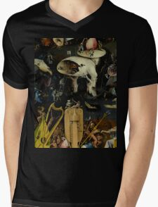 The Garden of Earthly Delights by Hieronymus Bosch Mens V-Neck T-Shirt