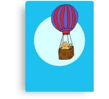 Hot Air Balloon Cat Canvas Print