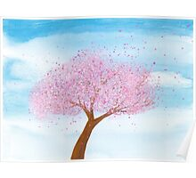 Seasons I ~ watercolor spring cherry tree Poster